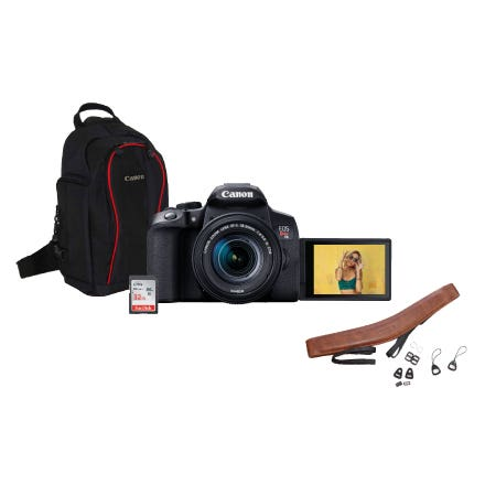 EOS T8I 18-55 w/BAG,32CARD and STRAP